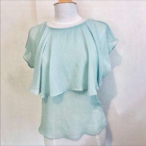 TOPSHOP romantic blouse size 4